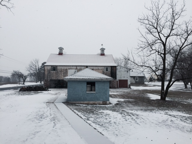 pa home property in snow