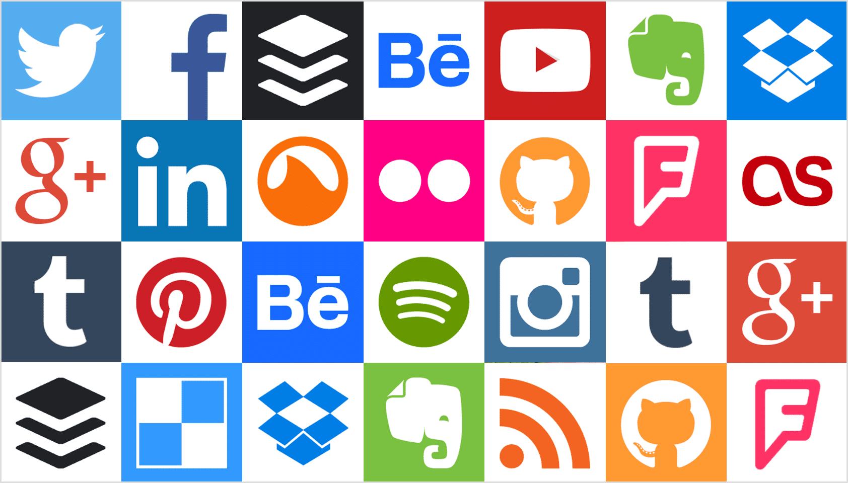 Social Standard Square icon sets