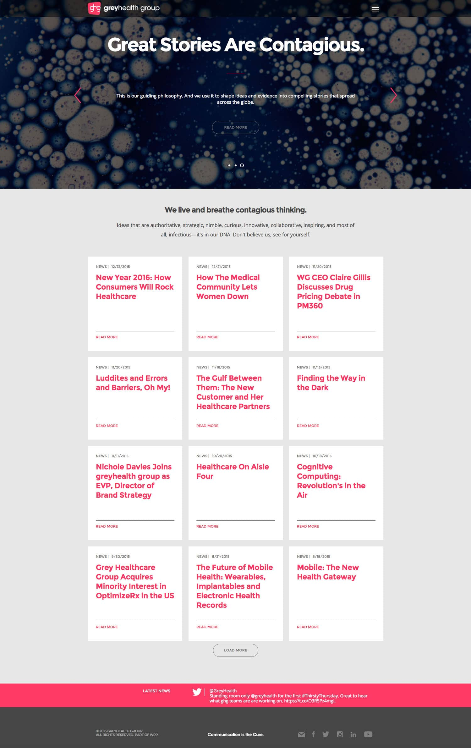 Grey Healthcare Group GHG Final Homepage Design